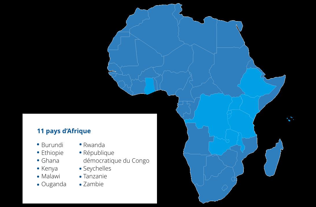 Carte Afrique + Pays